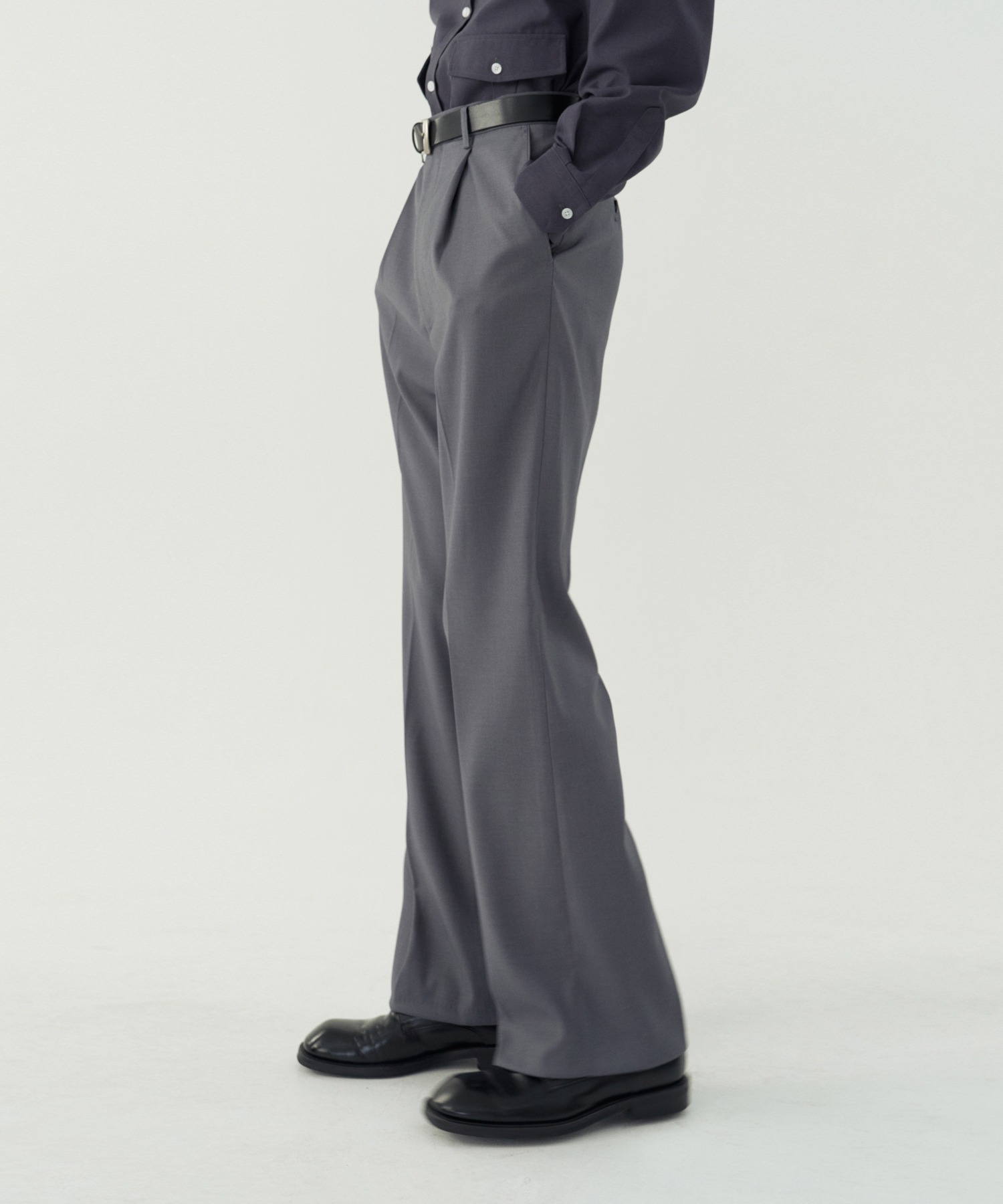 Reconnect Formal Semi Wide Bootcut Slacks_Gray