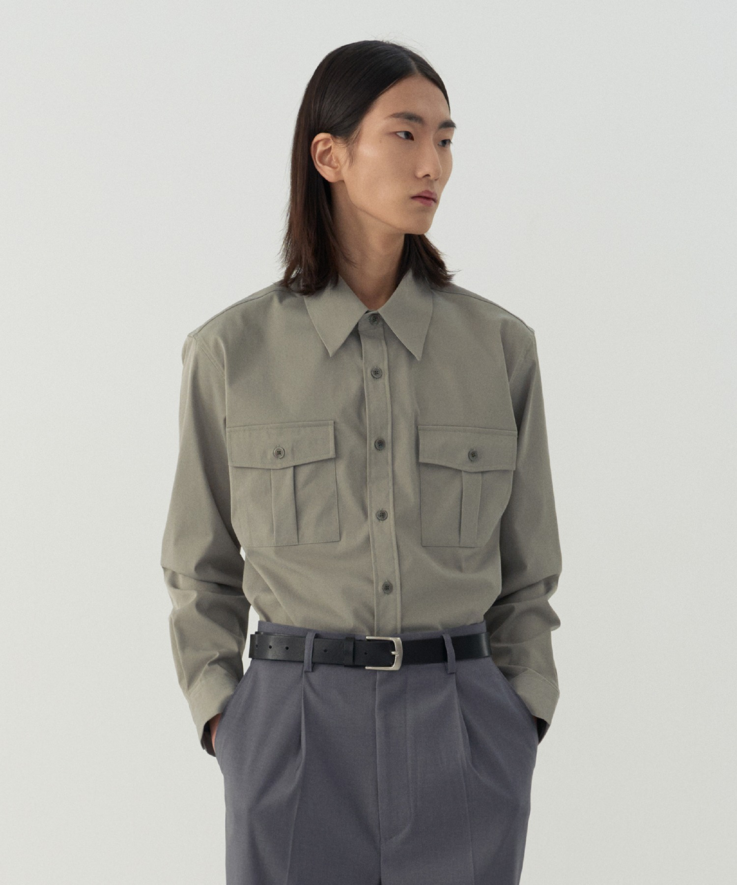 Reconnect Classic Western Shirts_Khaki