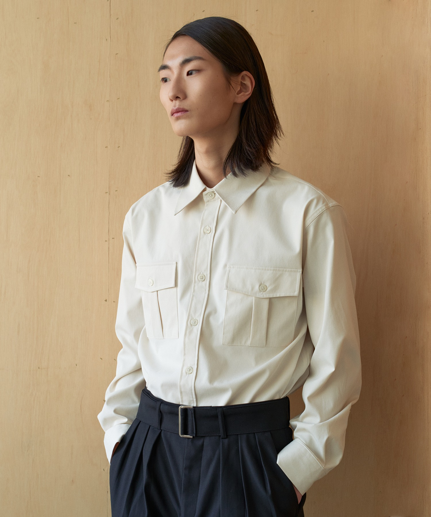 Reconnect Classic Western Shirts_Ivory